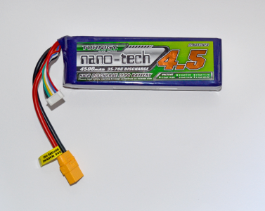 Lipo battery pack, 5S, 4500mAh